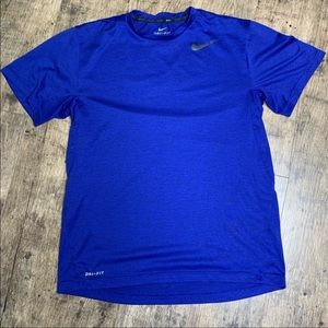 Nike DRI-FIT cobalt blue performance tee